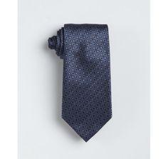 Gucci blue horsebit patterned silk tie