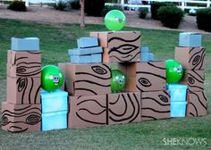 There's a life-size Angry Birds game and yes, you can make it yourself