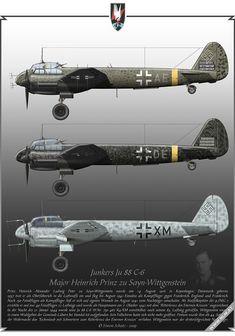 Junkers Ju 88 C-6 flown by Heinrich Prinz zu Sayn-Wittgenstein