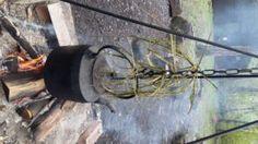 Drying bramble cordage