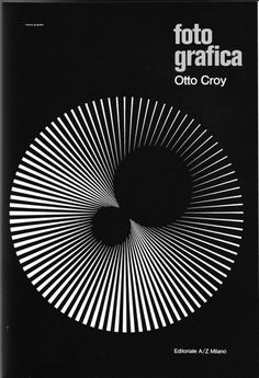 Franco Grignani, black and white, graphic design, poster Op Art, Art Optical, Optical Illusions, Geometry Art, Sacred Geometry, Victor Vasarely, Black And White Posters, Black White, Illusion Art