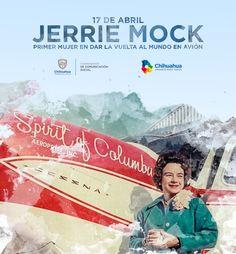 El día de hoy recordamos a Jerrie Mock, primera mujer en dar la vuelta al mundo vía aérea.  #ComSocChih #GobiernodeChihuahua