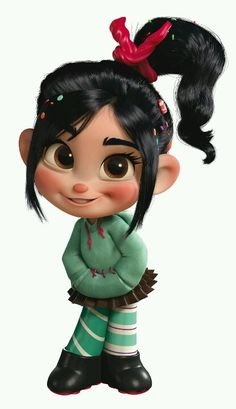 Halloween costume idea for Bella. should be pretty easy to make!! Vanellope from Wreck it Ralph