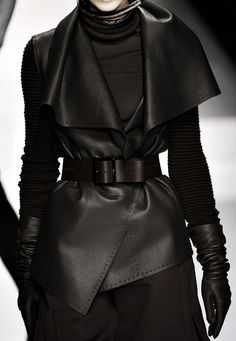 Skip the gloves and turtle neck but that wrap vest is gorgeous. Make a statement.