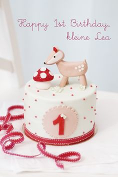 1st birthday cake by petite homemade