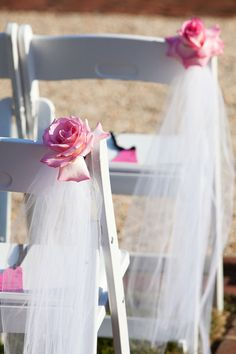 Cute idea for ceremony decorations