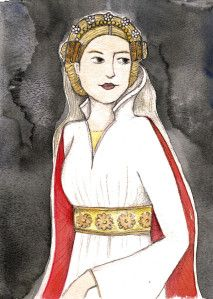 Mary de Bohun (1368-1394) was the first wife of King Henry IV of England, and mother to King Henry V. MORE: http://historywitch.com/2013/08/17/brothers-pawn/