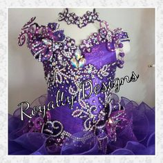 Beautiful custom made pageant dress by Royalty Designs
