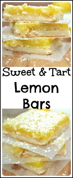 You'll love how easy it is to make these sweet, tart, zingy lemon bars with a crumbly buttery shortbread crust | A delicious & fancy dessert | craftycookingmama.com