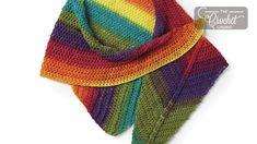The Crochet Rainbow Shawl is an asymmetrical design that is classified as easy but I think it's more suited for an intermediate level. Diagram is included. Shawl Patterns, Knitting Patterns, Crochet Poncho, Love Crochet, Crochet Crowd, Crochet Symbols, Crochet Triangle, Prayer Shawl, Capes