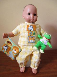 Bitty Baby Pajamas Froggie Toy and Blanket