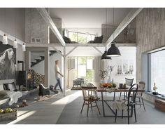 Mooi behang Vliesbehang Factory II wit kopen bij HORNBACH