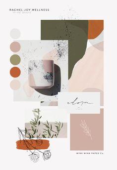 Branding Mood Board by Wink Wink Paper Co. boards layout Branding Mood Board by Wink Wink Paper Co. Coperate Design, Deco Design, Layout Design, Blog Design, Brand Design, Interior Design, Ecommerce Webdesign, Webdesign Layouts, Corporate Identity Design