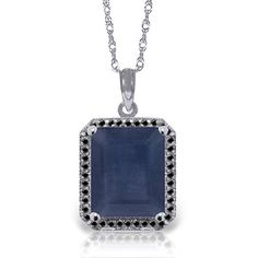 ALARRI 1.15 Carat 14K Solid Rose Gold Single Round Blue Topaz Necklace with 20 Inch Chain Length