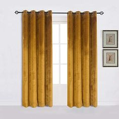 ~~For behind our couch~~ Cherry Home Super Soft Luxury Velvet Set of 2 Warm Yellow Blackout Velvet Energy Efficient Grommet Curtain Panel Drapes Ginger Mustard Curtain Panels for Living Room: Home & Kitchen Home Curtains, Curtains Living, Modern Curtains, Room Darkening Curtains, Velvet Curtains, Grommet Curtains, Panel Curtains, Curtain Panels, Decorative Curtains