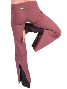 slit back yoga pant Foat Design
