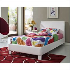 Fantasia Bed in White - 607XX-WHITE - Lowest price online on all Fantasia Bed in White - 607XX-WHITE