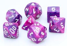 Festive Dice (Violet) RPG Role Playing Game Dice Set