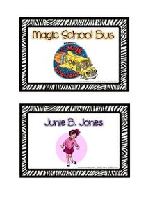 These zebra book basket labels are for the classroom library following a jungle theme! Some of the labels included:Nonfiction Labels:-Spo...