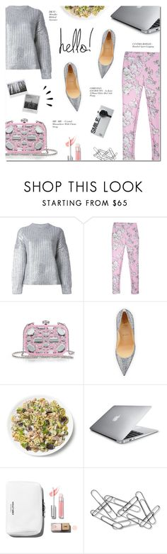 """""""HELLO!"""" by larissa-takahassi ❤ liked on Polyvore featuring DKNY, Cynthia Rowley, Miu Miu, Christian Louboutin, Meggie, Home Decorators Collection, Old Navy, metallic, christianlouboutin and dkny"""