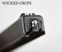 GLOCK REAR SLIDE PLATE 3D SPARTAN - Wicked Grips - GLOCK REAR SLIDE COVER…