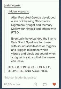 George and PTSD. :(