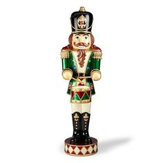 76 Quot Lighted Nutcracker With 25 Led Lights Outside
