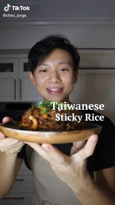 Taiwanese Sticky Rice Recipe, Sticky Rice Recipes, Vegetarian Recipes, Cooking Recipes, Vegan Life, International Recipes, Diy Food, Asian Recipes, Food Videos