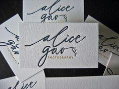 Alica Gao - Letterpress Logo | Flickr - Photo Sharing!