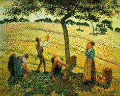 Apple Picking at Eragny-sur-Epte, 1888 Camille Pissarro