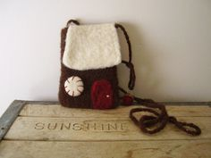 felted wool house pouch purse
