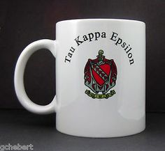Tau Kappa Epsilon Fraternity Name and Crest Coffee Mug New