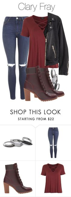 """""""Clary Fray - Shadowhunters"""" by shadyannon ❤ liked on Polyvore featuring Iosselliani, Topshop, Timberland and H&M"""