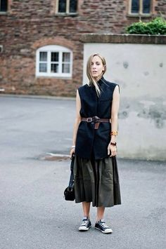 Long skirt and jacket