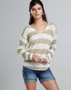 Striped Pullover Hoodie - Beach Vacation Shop - Lucky Brand Jeans