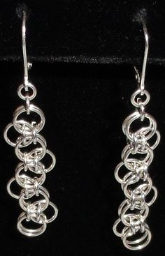 My bumpa chain earrings in sterling silver