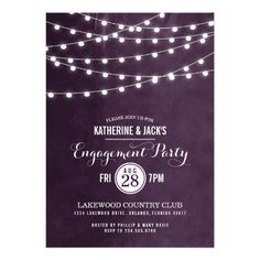 Summer String Lights Engagement Party Invitation today price drop and special promotion. Get The best buyDiscount Deals          Summer String Lights Engagement Party Invitation lowest price Fast Shipping and save your money Now!!...