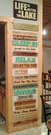 Life is better at the lake!!! Homemade pallet signs!