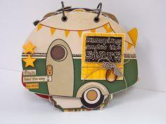 Mini Album by Bo Bunny and Shanna Vineyard Mini Albums, Mini Scrapbook Albums, Scrapbook Journal, Scrapbook Paper Crafts, Scrapbook Cards, Scrapbooking, Paper Crafting, Paper Bag Album, Paper Bags