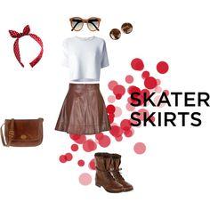"""skater skirts"" by giulia-z on Polyvore"