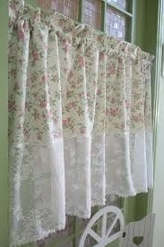 love the shabby chic curtains. Easy to make #shabbychickitchencurtains