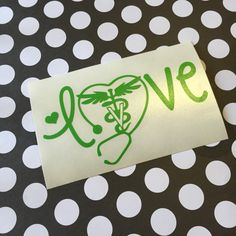 LOVE Stethoscope Veterinary Decal -Veterinarian, Vet, Vet Tech - Choose your size and color!!