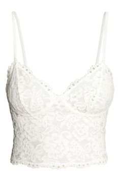 Bustier - Blanco natural - MUJER | H&M ES