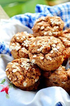 Vegan Oil Free Almond Pear Muffins