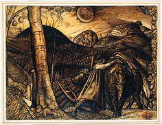 "Samuel Palmer ""A Rustic Scene"". Ashmolean Museum, Oxford"