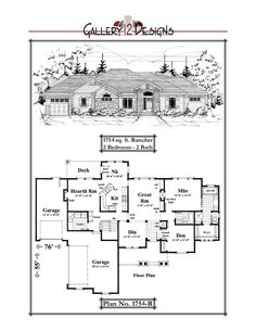 1754-R Garage Floor Plans, House Floor Plans, Best Home Plans, Pool House Designs, 3 Car Garage, Traditional House Plans, Pool Houses, Planer, Home Remodeling