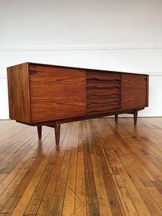 Mid Century Danish Rosewood Sideboard Credenza by Skovby