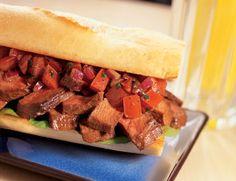 Steak Bruschetta Sandwich recipe