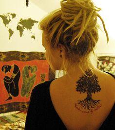 Dreads & a tree tattoo!