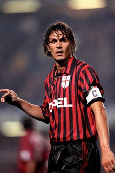 Paolo Maldini, one of the greatest defenders of all time. He played his entire career for AC Milan.